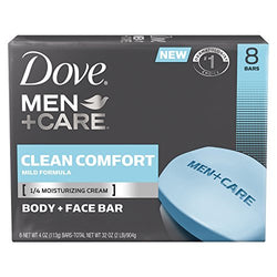 Dove Men+Care Body and Face Bar, Clean Comfort 4 oz, 8 Bars / Pk