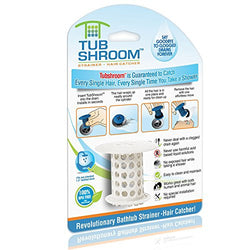 TubShroom The Revolutionary Tub Drain Protector Hair Catcher, White