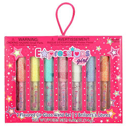 Expressions Girl 7pc Flavored Lip Gloss Set 0.7 oz each