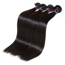 7A Malaysian Straight Virgin Hair - 3Pcs / Lot