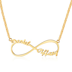 Personalized Name Infinity Endless Love Necklace