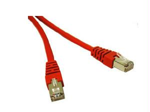 10ft CAT5e Shielded Patch Cable Red