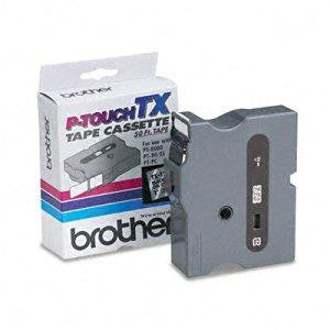 BROTHER INTERNATIONAL CORPORAT 1INCH BLACK ON CLEAR LAMINATED TAPE FOR THE BROTHER PT30 PT35 PT400
