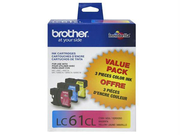 Brother International Corporat 3-pack Lc613pks Cyan Magenta Yellow For Mfc-6490cw