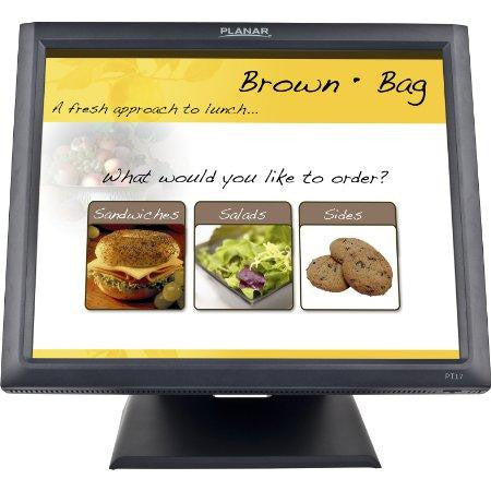 Planar Pt1745r 17 Black Economical 5-wire Resistive Touch Screen Lcd With Dual Usb-seri