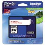 Brother International Corporat Tze-242 Label,3-4 Red-wht
