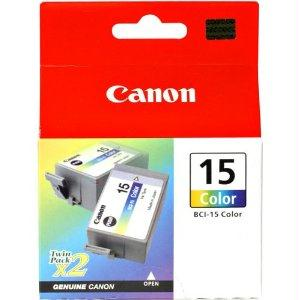 Canon Usa Bci-15 Color Ink Tank - Yellow, Cyan, Magenta - Twin Pack - 2 Tanks Per Pack- Fo