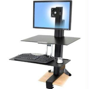 Ergotron Workfit-s Sit-stand Workstation For Mid-size Monitor, Hd, With Worksurface And L