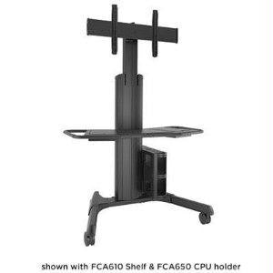 Chief Manufacturing Large Fusion Cart Manual Adjustable, Blk