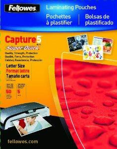 Fellowes, Inc. Laminating Pouch Letter 11.5in X 9in Landscape 5mil 100pk