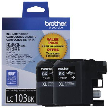 Brother International Corporat 2-pack Of Innobella High Yield (xl Series) Black Ink Cartridges  (y