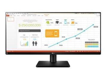 Lg Elecronics Usa 34in Ultrawide Monitor With 4 Screen Split Feature, 2560x1080 Ips Panel, Dvi-d,