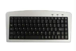 Adesso Adesso Mini Keyboard - Akb-901 (usb+ps-2 Silver-black)