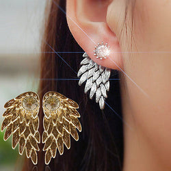 Stylish Angel Wings Rhinestone Ear Studs