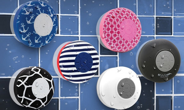 Feel the Sound with Aduro AQUA Sound Bluetooth Shower Speaker with Mic and Controls