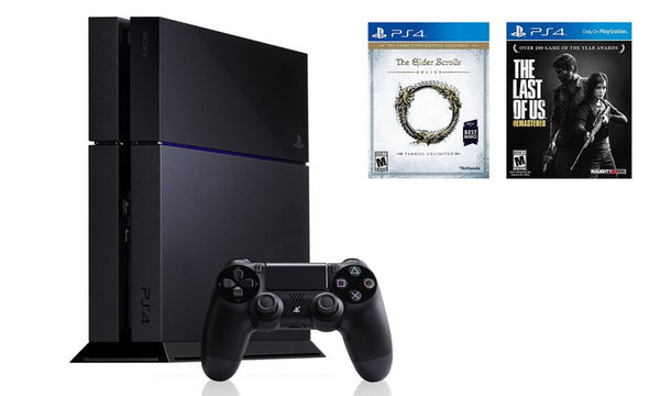 PlayStation 4 500GB Console with Controller and 2 Games (Manufacturer Refurbished).