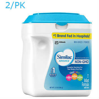 Similac Advance Non-GMO* Infant Formula 2ct/34oz