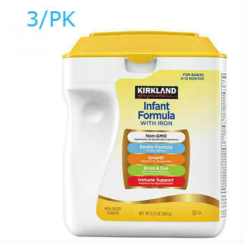 Kirkland Signature Non-GMO* Infant Formula 3ct/34oz