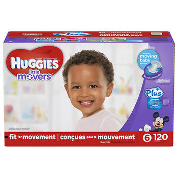 Huggies Little Movers Plus Diapers Size 6; 120ct