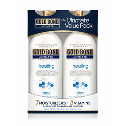 Gold Bond Ultimate Skin Therapy Lotion Healing with Aloe 20 oz (Pack of 2)