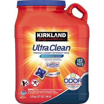 Kirkland Signature Ultra Clean Laundry Pacs 152 Count