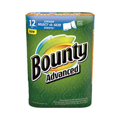 Bounty Advanced Select-A-Size White 12 Rolls / 117 Sheets