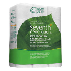 Seventh Generation 100% Recycled Double Roll Bath Tissue 2-Ply White 24ct