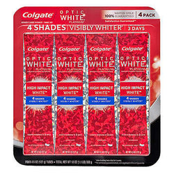 Colgate Optic White High Impact White Toothpaste 4.5 oz, 4-count