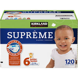 Kirkland Signature Supreme Diapers Size 6; 120ct