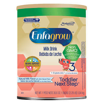 Enfagrow Toddler Next Step Non-GMO Stage 3 Natural Milk Flavor 36.6 oz.