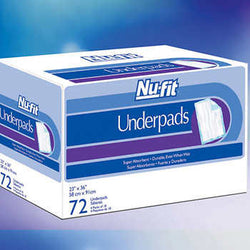 Nu-fit Underpads Size Large, 72-count