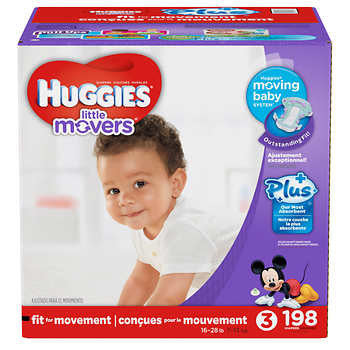 Huggies Little Movers Plus Diapers Size 3; 198ct