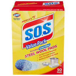 S.O.S. Scouring Pads 50 Count