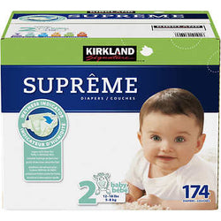 Kirkland Signature Supreme Diapers Size 2; 174ct