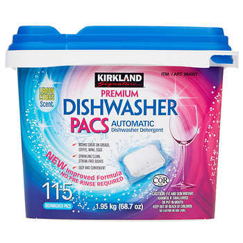 Kirkland Signature Premium Dishwasher Pacs 115-count