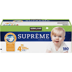 Kirkland Signature Supreme Diapers Size 4; 180ct
