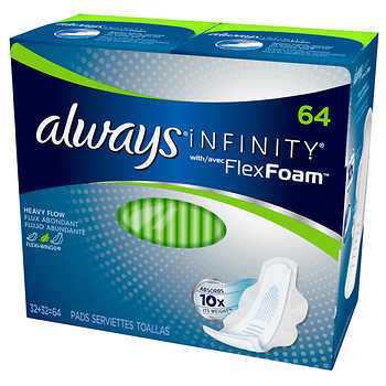 Always Infinity Heavy Flow Pads, 64-count for her