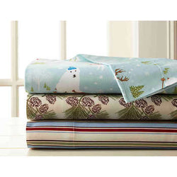 Micro Flannel® Twin Printed Sheet Set