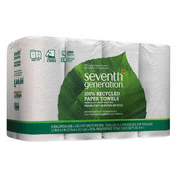 Seventh Generation 100% Recycled Paper Towels 2-Ply White 8ct