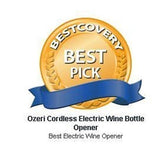 Ozeri Nouveaux Electric Wine Opener with Removable Foil Cutter, Black