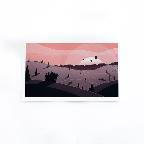Desert Memories Art Print - Sunset