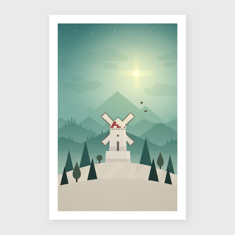 Mountain Memories Art Print - Solitude (Limited Edition)