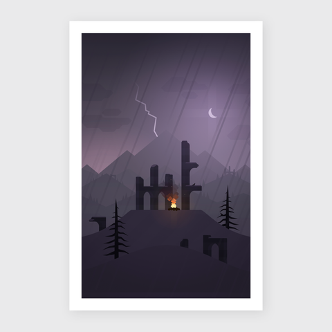 Mountain Memories Art Print - Shelter (Limited Edition)