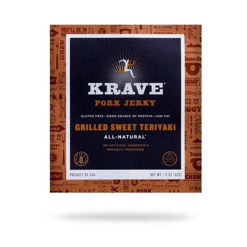 Krave Grilled Teriyaki Pork Jerky