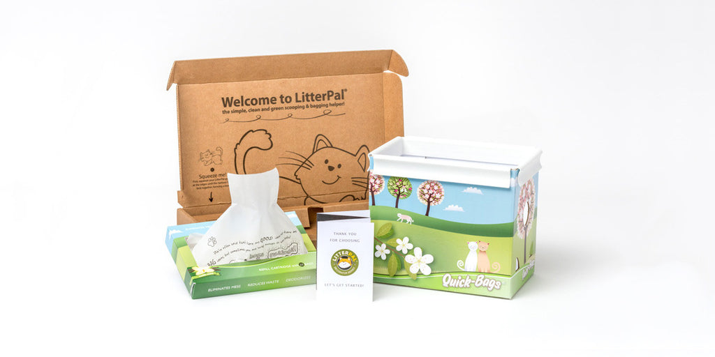LitterPal lives next to your existing litter box