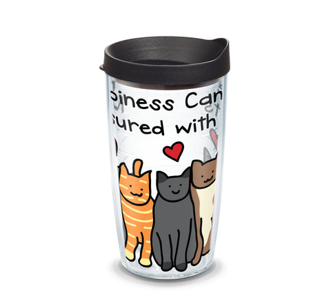 Tervis Project Paws Happiness Cats with black lid, 16 oz. tumbler