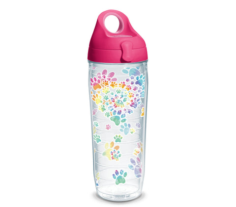 Tervis - Tie Dye Paw Heart 24 oz Water Bottle