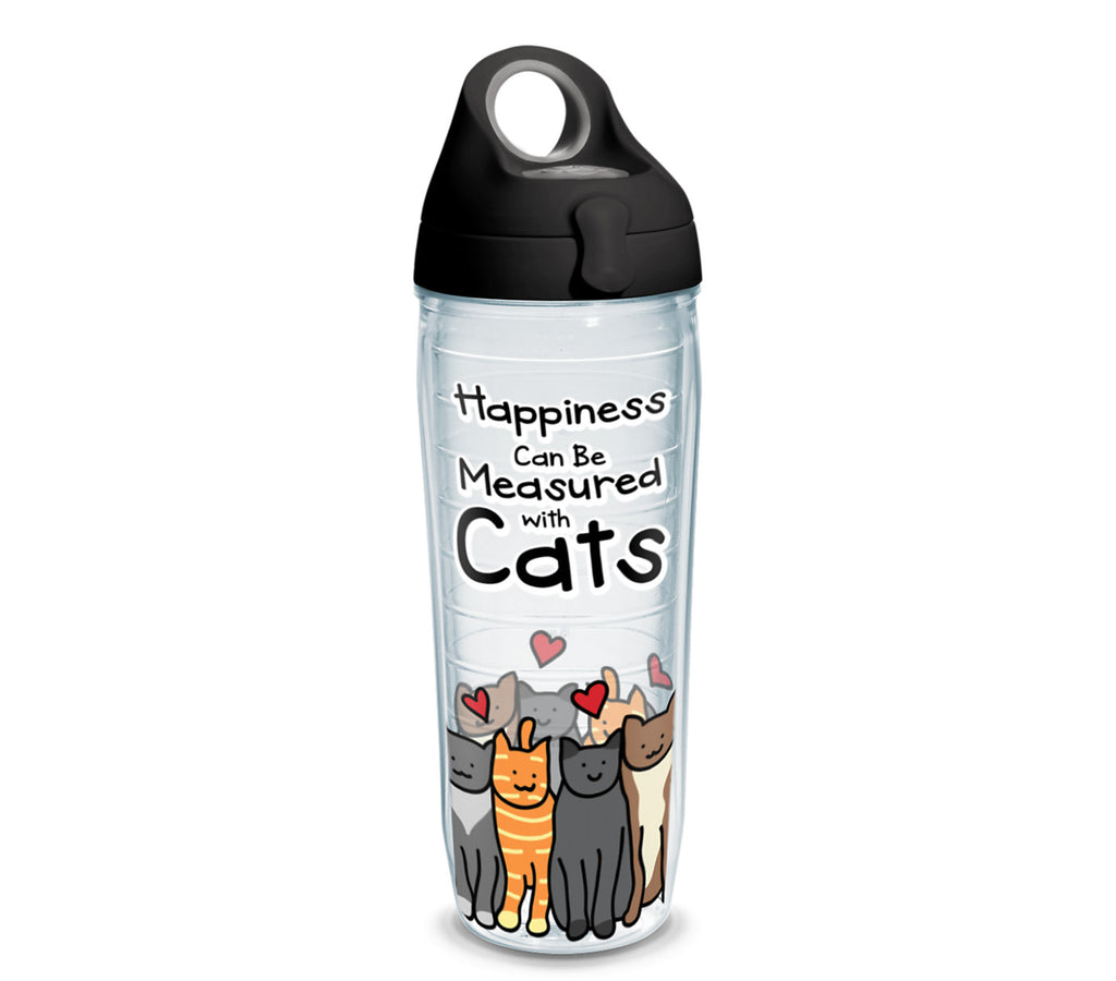 Tervis - Happiness Can Be Measured With Cats - 24 oz water bottle