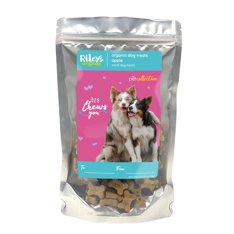 "Riley's ""I Chews You"" Tasty Apple Small Bone Dog Treats 5oz"