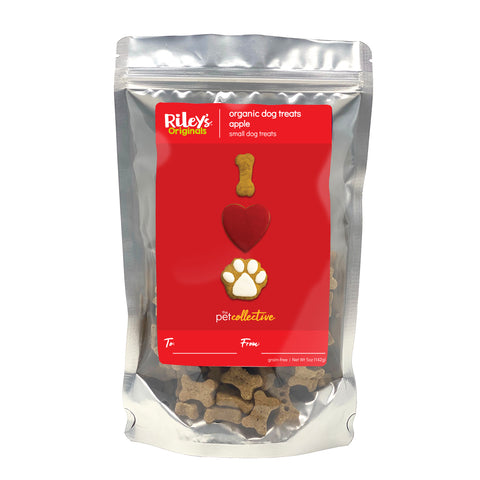 "Riley's ""I Heart Paws"" Tasty Apple Small Bone Dog Treats 5oz"